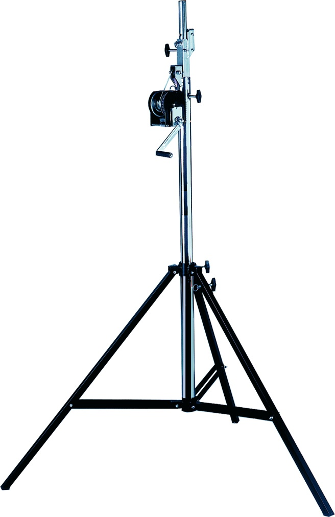 ASD Very stable stand made of steel with chrome finish, perfect for all-round applications. Max. Height: 4,10m. Max. load: 80kg.