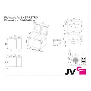 CASE FOR 2xBT-RETRO - Dimensions