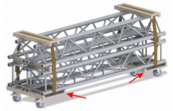 F1 BT-TRUSS 29-TROLLEY-BASE