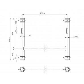 BT-TRUSS H-Frame BLK 750x415