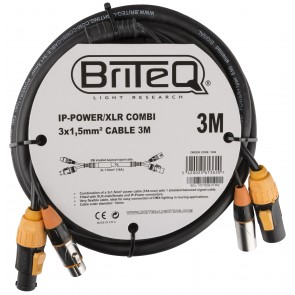 IP-POWER/XLR COMBI CABLE 3M