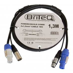 F1 POWERCON / XLR COMBI 3x1,5mm² CABLE 1M3