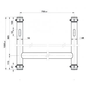 BT-TRUSS H-Frame BLK 750x1000