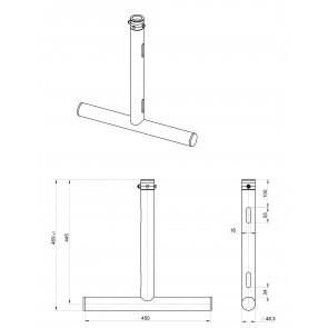 BT-TRUSS T-Drop arm BLK 450x445