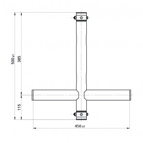 BT-TRUSS T-Drop arm Thru BLK 450x500