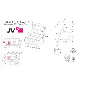 PROJECTOR CASE 5 - Dimensions
