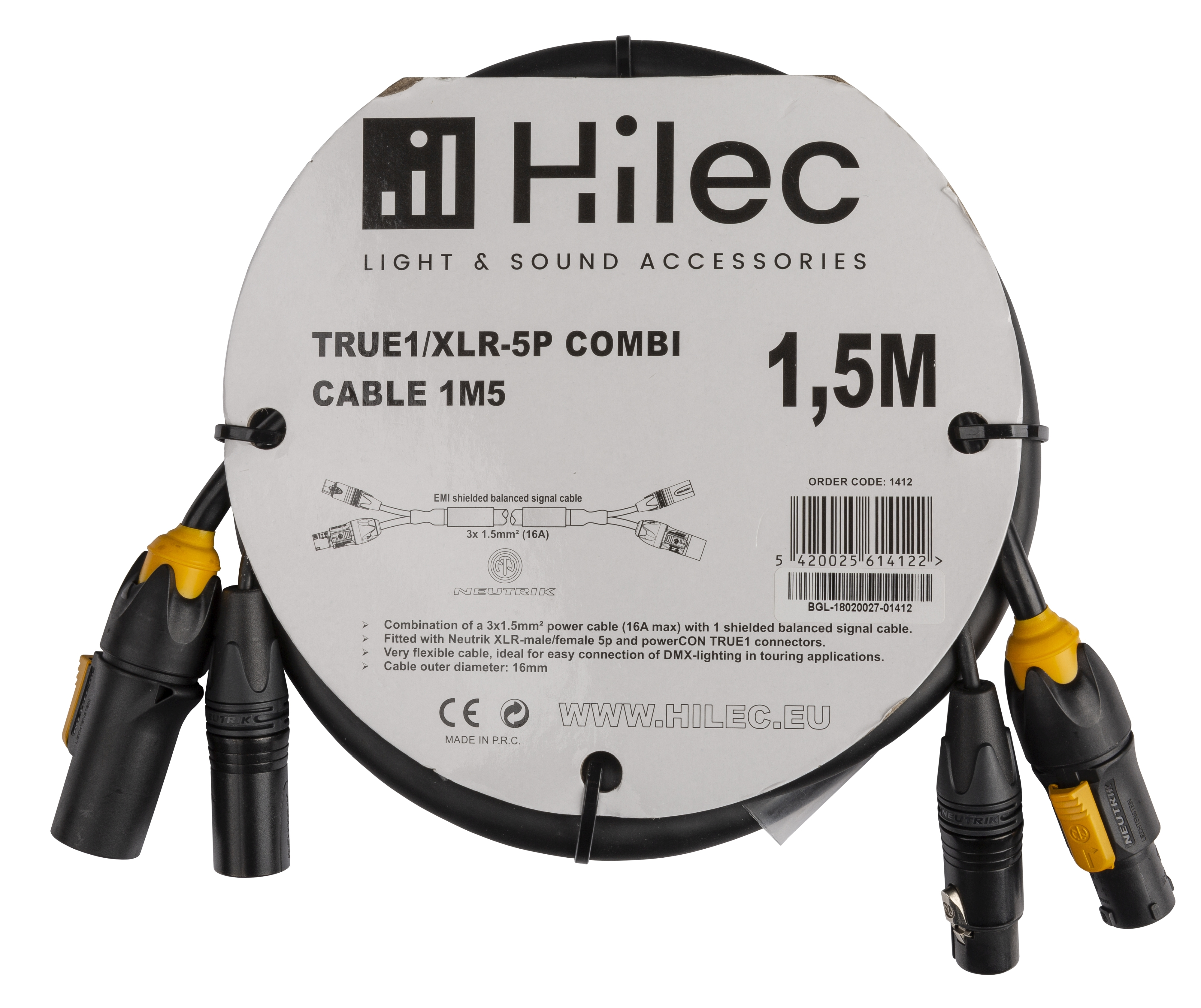 Briteq True1 Xlr 5p Combi Cable 15m Dmx Power Electrical Wiring Made Easy