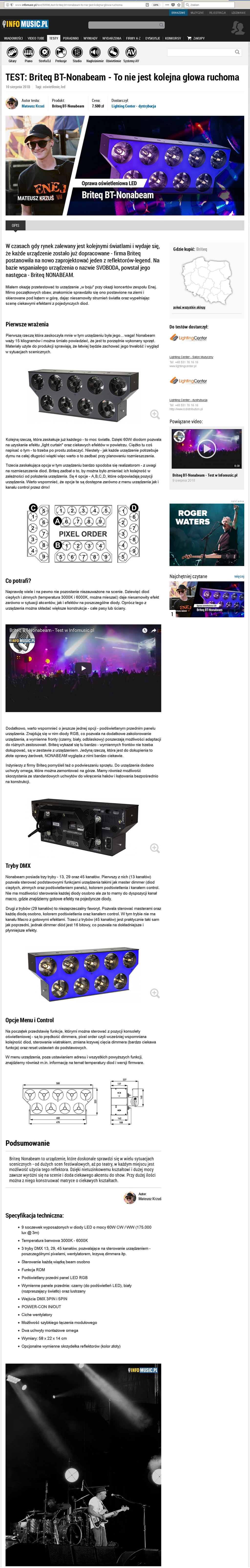 BT-NONABEAM - Review SoundLightUp magasine