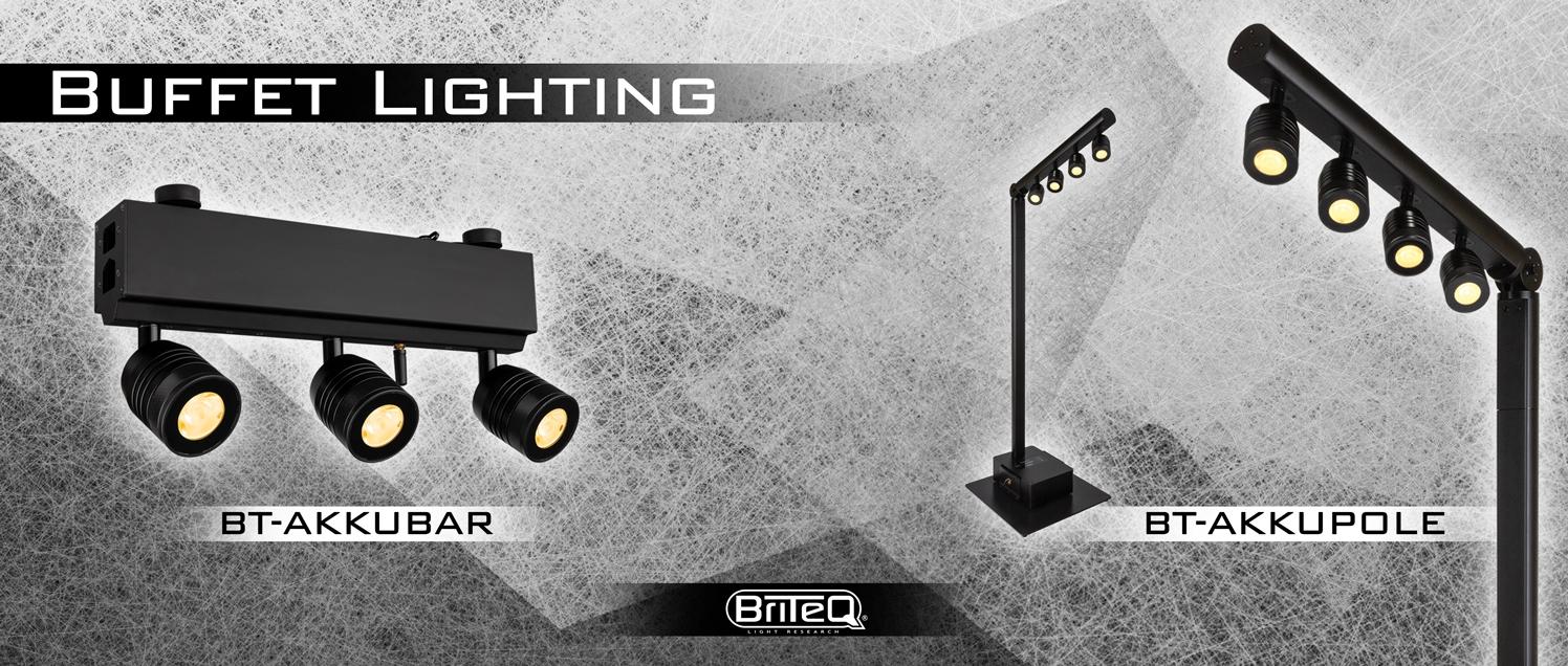 BRITEQ Buffet Lighting: BT-AKKUPOLE en BT-AKKUBAR