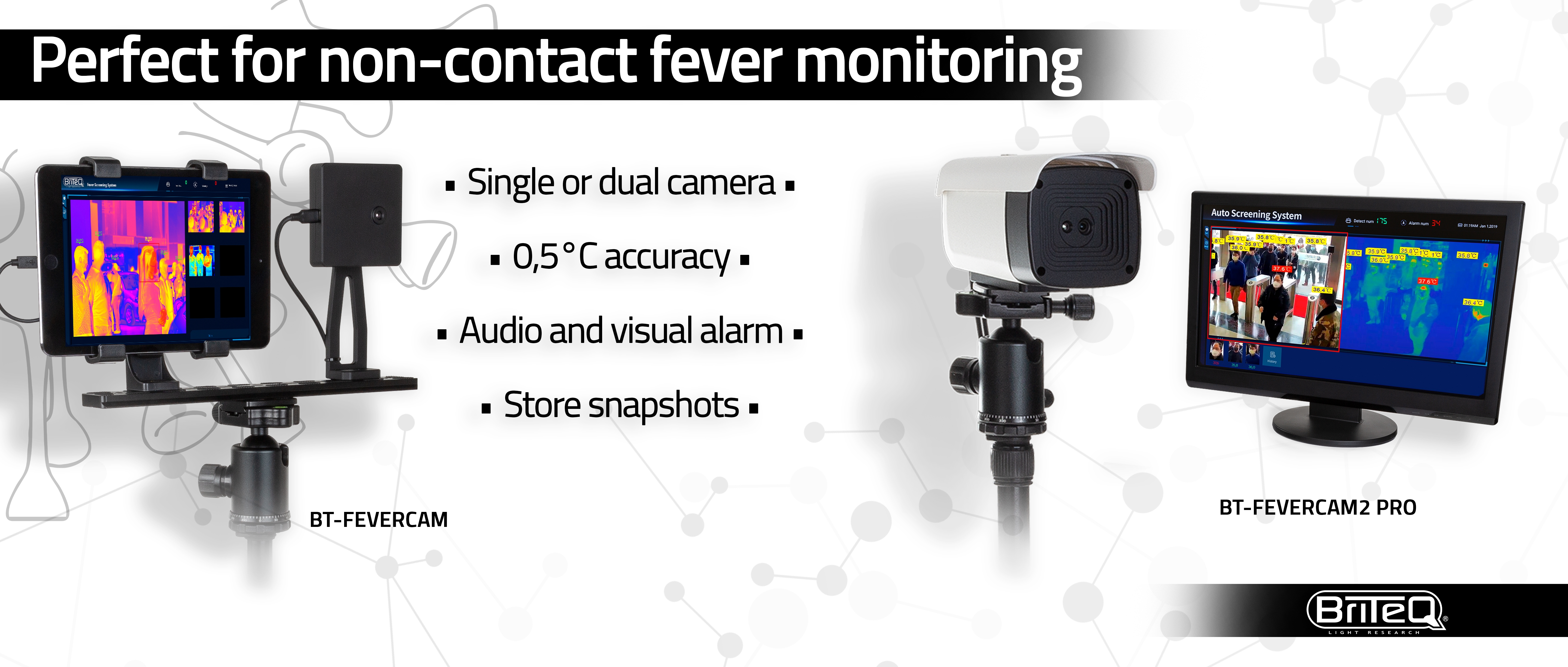 BRITEQ Thermographic fever detection cameras